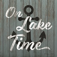On Lake Time Fine Art Print