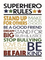 Superhero Rules Fine Art Print