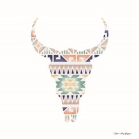 Aztec Cow Head Fine Art Print
