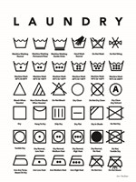 Laundry Symbols Framed Print