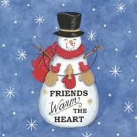 Friends Snowman Fine Art Print