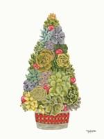 Santa's Succulents Fine Art Print