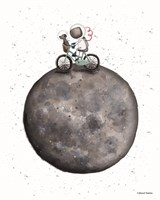 Bike on Moon Fine Art Print