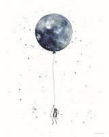 Moon Balloon Fine Art Print