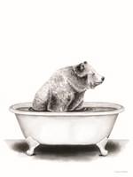 Bear in Tub Fine Art Print