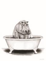 Hippo in Tub Fine Art Print