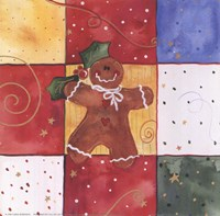 "Gingerbread Man by Carol Robinson - 6"" x 6"" - $10.49"