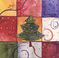 "Christmas Tree by Carol Robinson - 6"" x 6"""