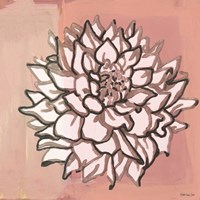 Pink and Gray Floral 1 Fine Art Print