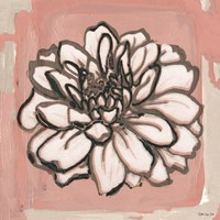 Pink and Gray Floral 2 Fine Art Print