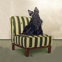 Scottie on Stripes Fine Art Print
