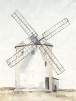 European Windmill I Fine Art Print