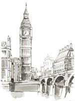 Pen & Ink Travel Studies II Fine Art Print