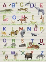 Alphabet Animals Fine Art Print
