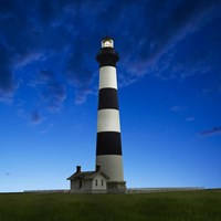 Lighthouse at Night III Fine Art Print