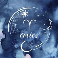 Watercolor Astrology I Fine Art Print