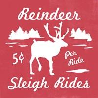 Reindeer Rides II Fine Art Print