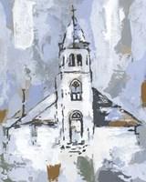 Cerulean Spire I Fine Art Print