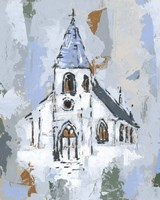Cerulean Spire II Fine Art Print