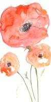Neon Poppies II Fine Art Print