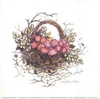 """Basket Bouquet III by Charlene Winter Olson - 6"""" x 6"""""""