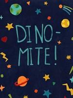 Starry Dinos II Framed Print