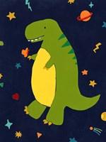 Starry Dinos III Framed Print