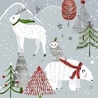 Stars & Snowflakes III Fine Art Print
