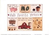 "Dad's Favorite Phrases by Carol Robinson - 7"" x 5"""