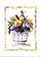 "Flower Tapestry I by Carol Robinson - 5"" x 7"""