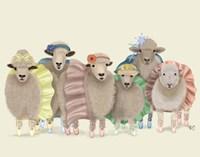 Ballet Troupe Sheep Fine Art Print