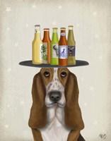 Basset Hound Beer Lover Fine Art Print