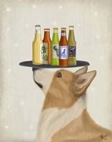 Corgi Tan White Beer Lover Fine Art Print