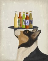 Corgi Tricolour Beer Lover Fine Art Print