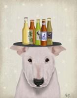 English Bull Terrier Beer Lover Fine Art Print