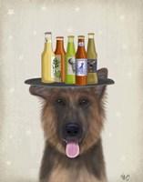 German Shepherd Beer Lover Fine Art Print