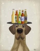 Great Dane Tan Beer Lover Fine Art Print