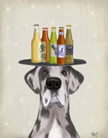 Great Dane Harlequin Beer Lover Fine Art Print