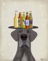 Great Dane Blue Beer Lover Fine Art Print