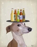 Greyhound Tan Beer Lover Fine Art Print