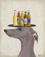 Greyhound Grey Beer Lover Fine Art Print