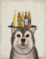 Husky 1 Beer Lover Fine Art Print