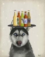 Husky 2 Beer Lover Fine Art Print