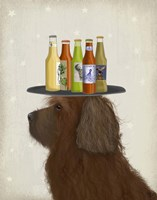 Labradoodle Brown 2 Beer Lover Fine Art Print
