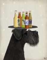 Schnauzer Black Beer Lover Fine Art Print