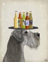 Schnauzer Grey Beer Lover Fine Art Print