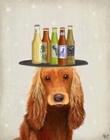 Cocker Spaniel Golden Beer Lover Fine Art Print