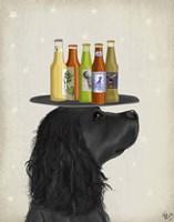 Cocker Spaniel Black Beer Lover Fine Art Print