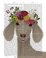 Goat Bohemian 2 Book Print Fine Art Print