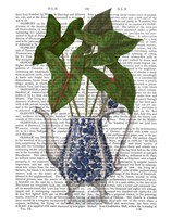 Chinoiserie Vase 4, With Plant Book Print Fine Art Print